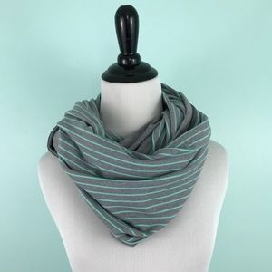 Lululemon | Vinyasa Scarf Gray Mint Green Stripes
